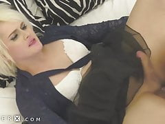 GenderX - Submissive Trans  Gets Hard As She's Pounded