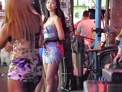 Ladyboy flashing  in Public